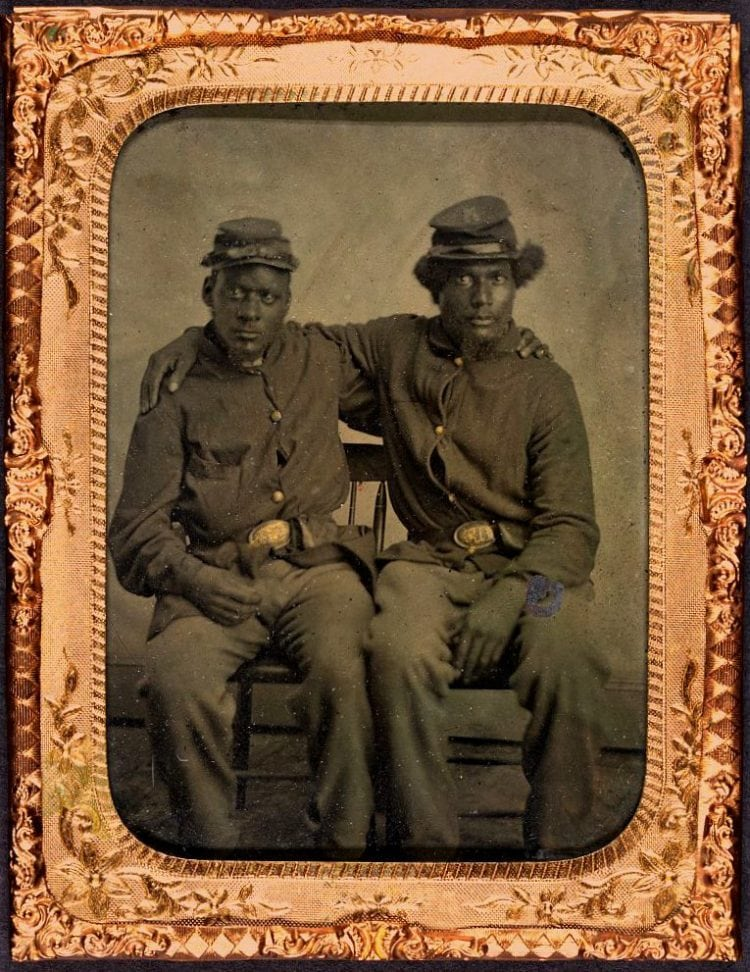 Two brothers in arms c1860 - Civil war
