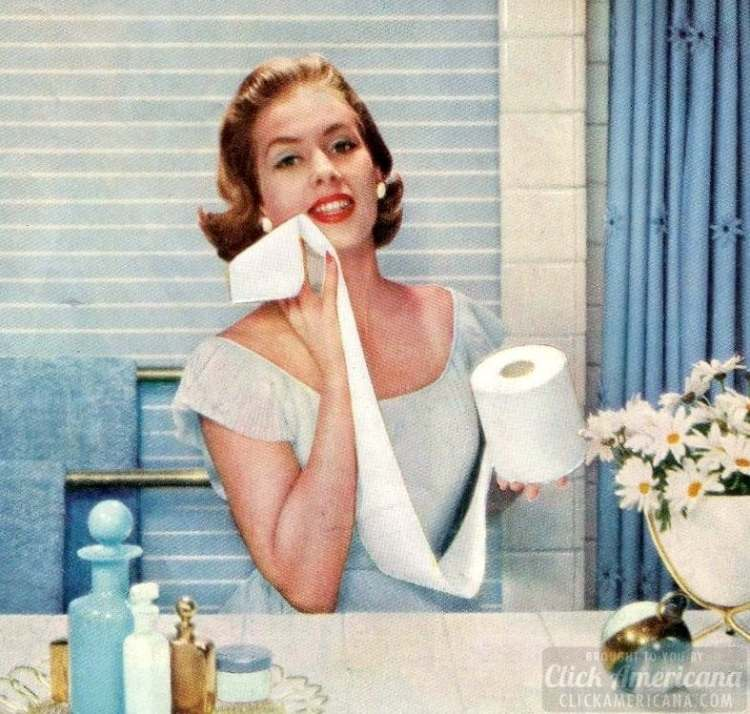 Vintage 50s women who love toilet paper (1)