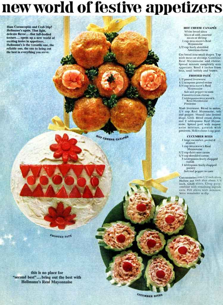 Vintage Christmas appetizers from November 1965 (1)