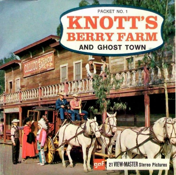 Vintage Knotts Berry Farm ViewMaster reel cover
