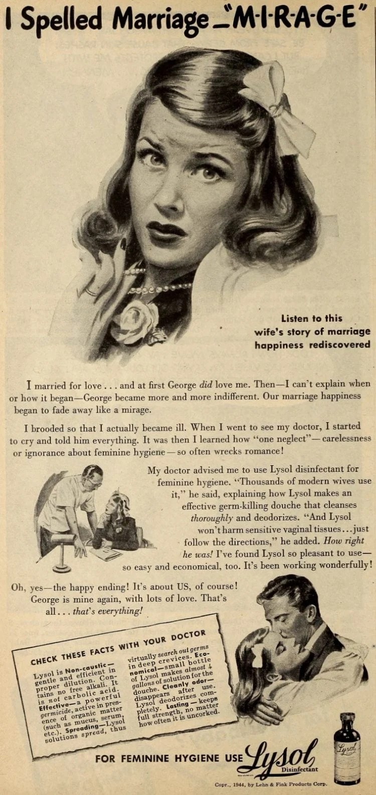 Vintage Lysol douche ads from the 1950s (6)