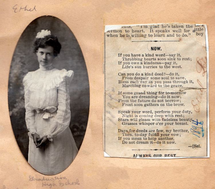 Vintage Scrapbooks as a history of life, of feeling, of the emotions of one's heart - Ethel Leland