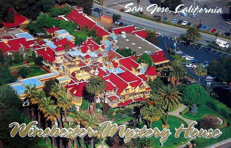 Vintage Winchester Mystery House postcard