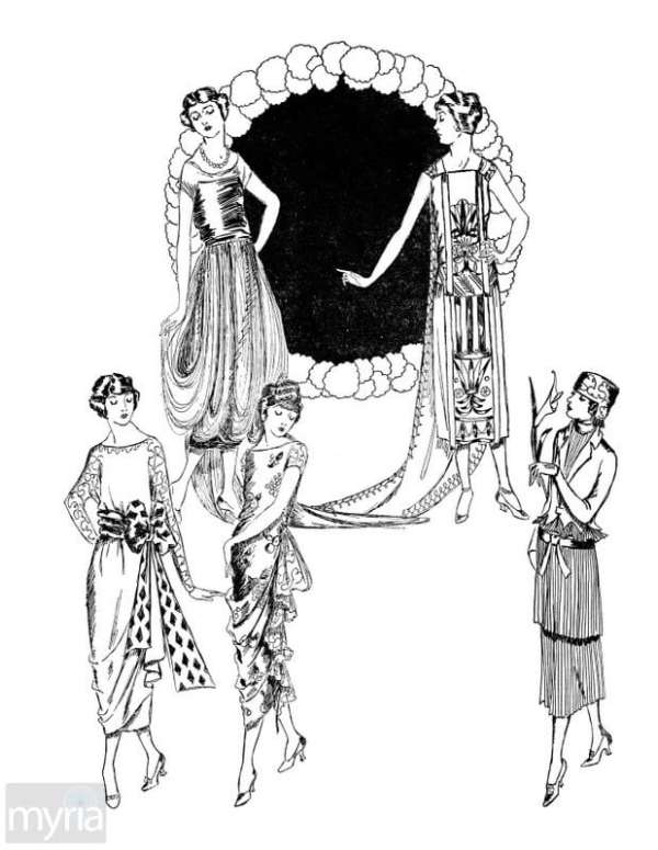 Vintage Women Coloring Book #7: Fashion Layouts from the Early 1920s