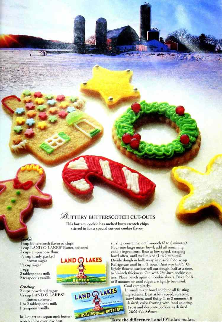 Vintage butterscotch cut-out sugar cookies recipe from 1994 (2)