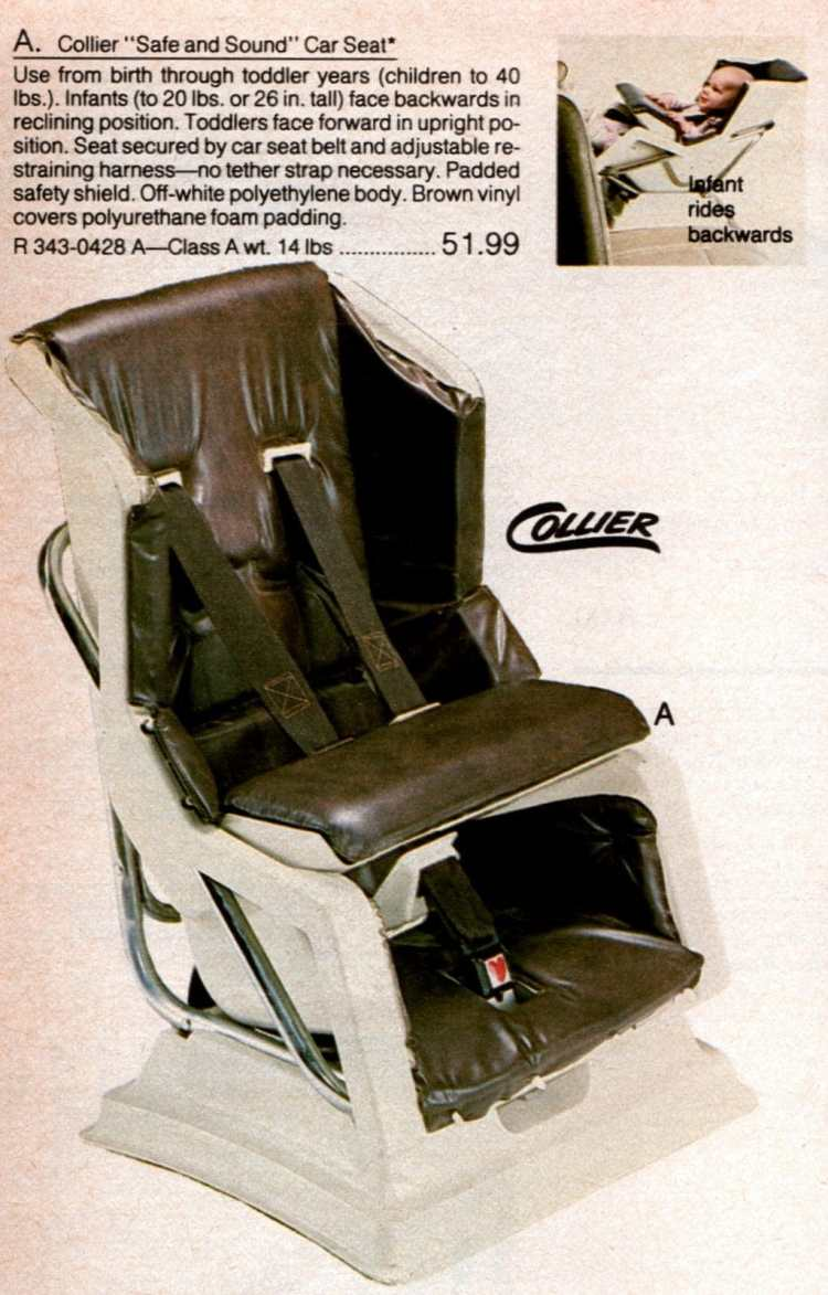 Vintage car baby safety seats from 1983 - kids (2)