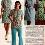 Zig-zag prints, daisy print and checked pattern on vintage shift dresses