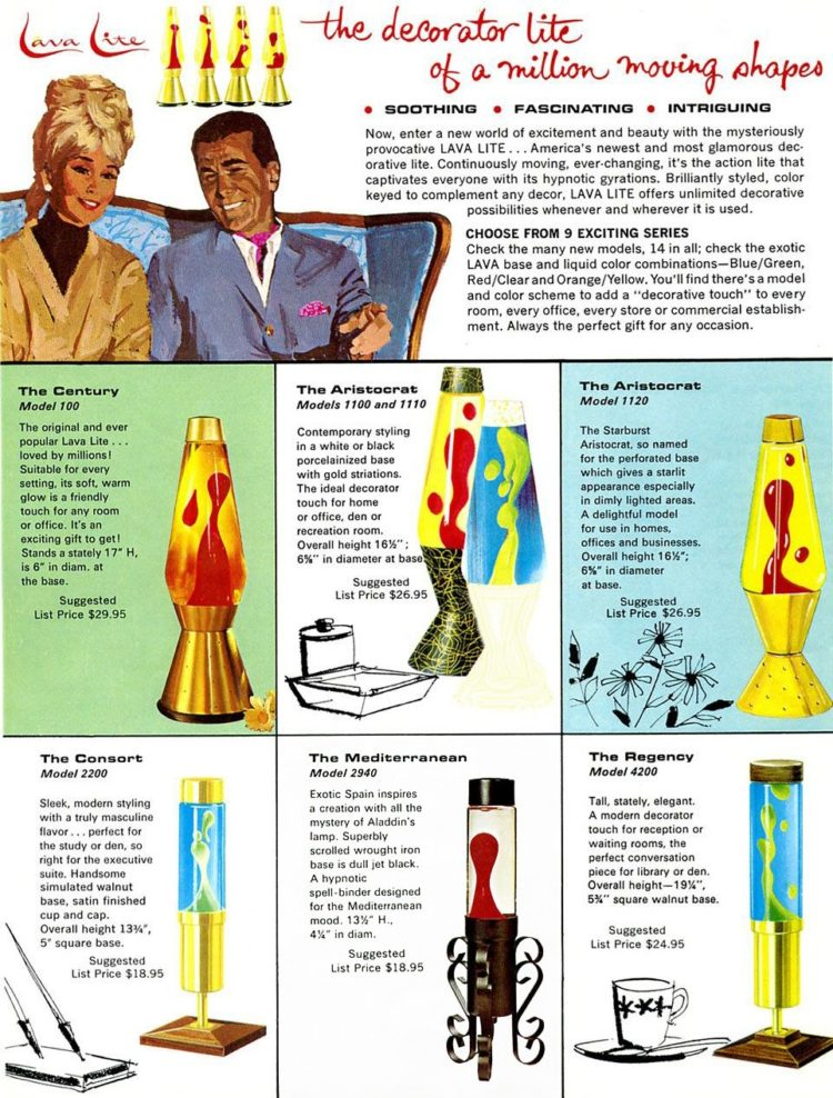 Vintage lava lamps from the '60s
