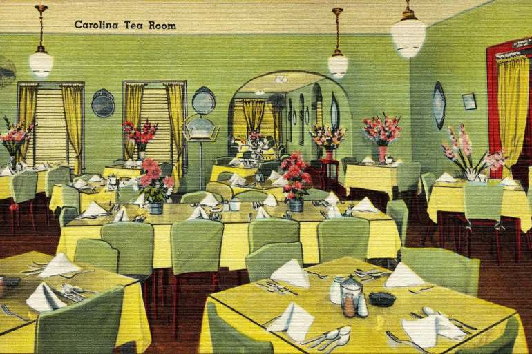 Vintage postcard - Carolina tea room