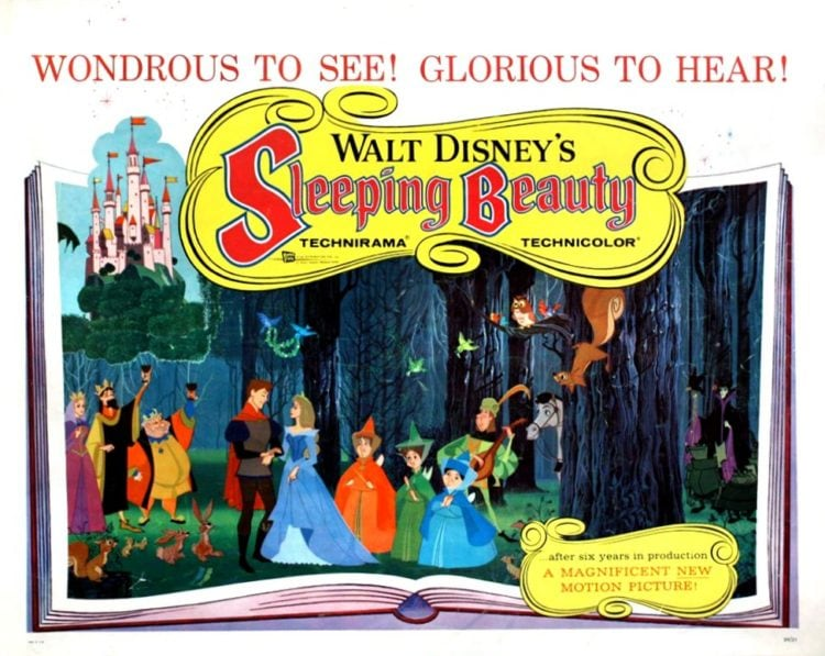 Walt Disney's Sleeping Beauty - Lobby promo card from 1959