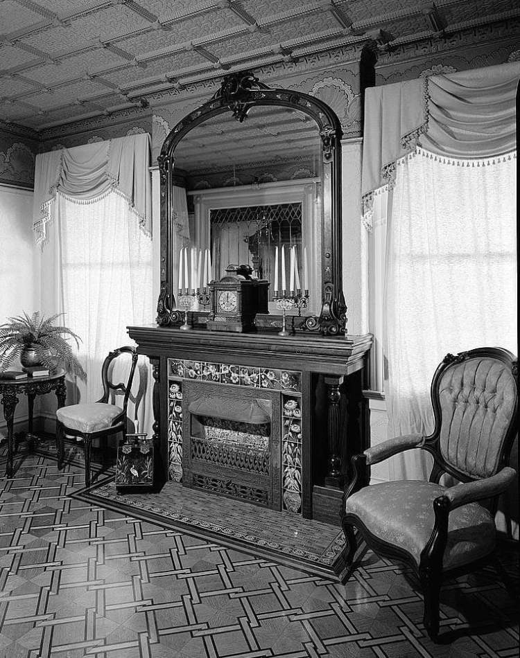 Winchester House inside - fireplace