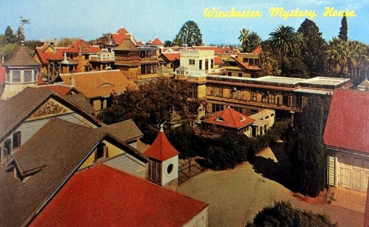 Winchester Mystery House postcard 1960s-1970s