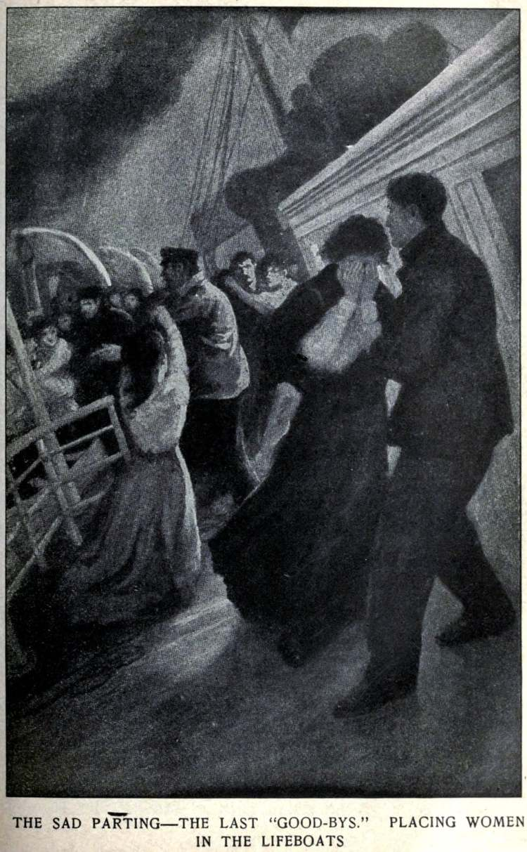 Wreck and sinking of the Titanic - The last goodbyes - Placing women in the lifeboats