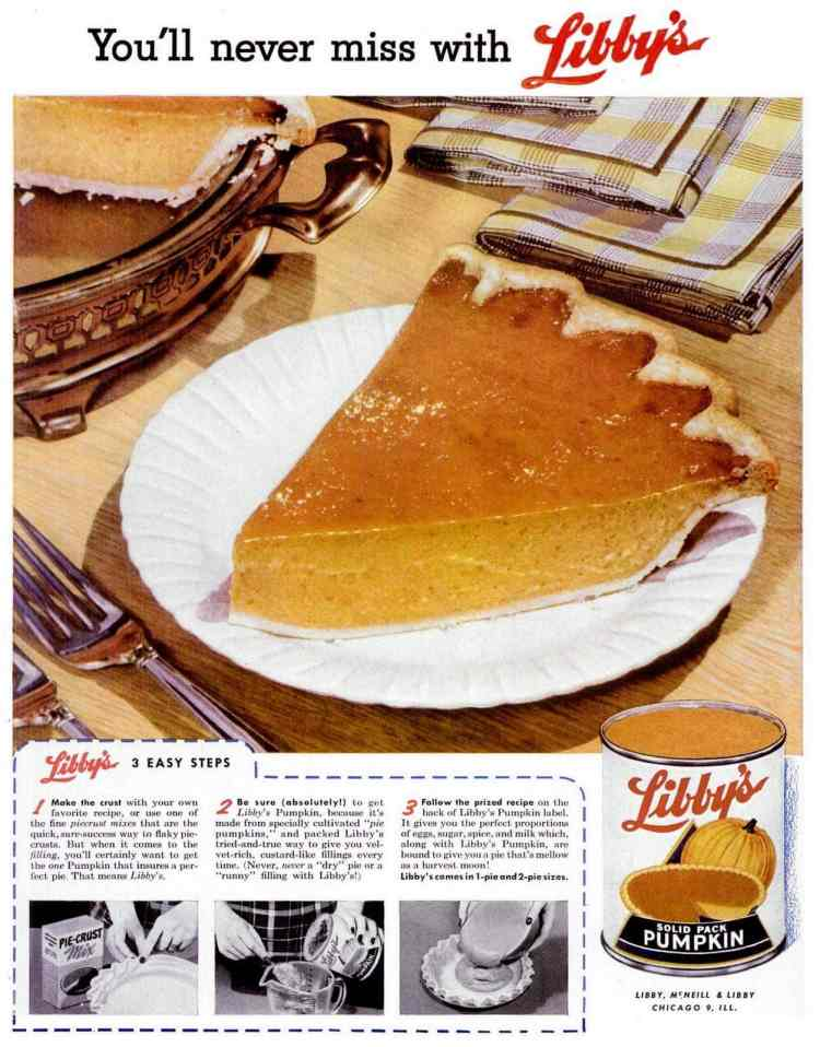 You'll never miss with Libby's pumpkin pie - 1955
