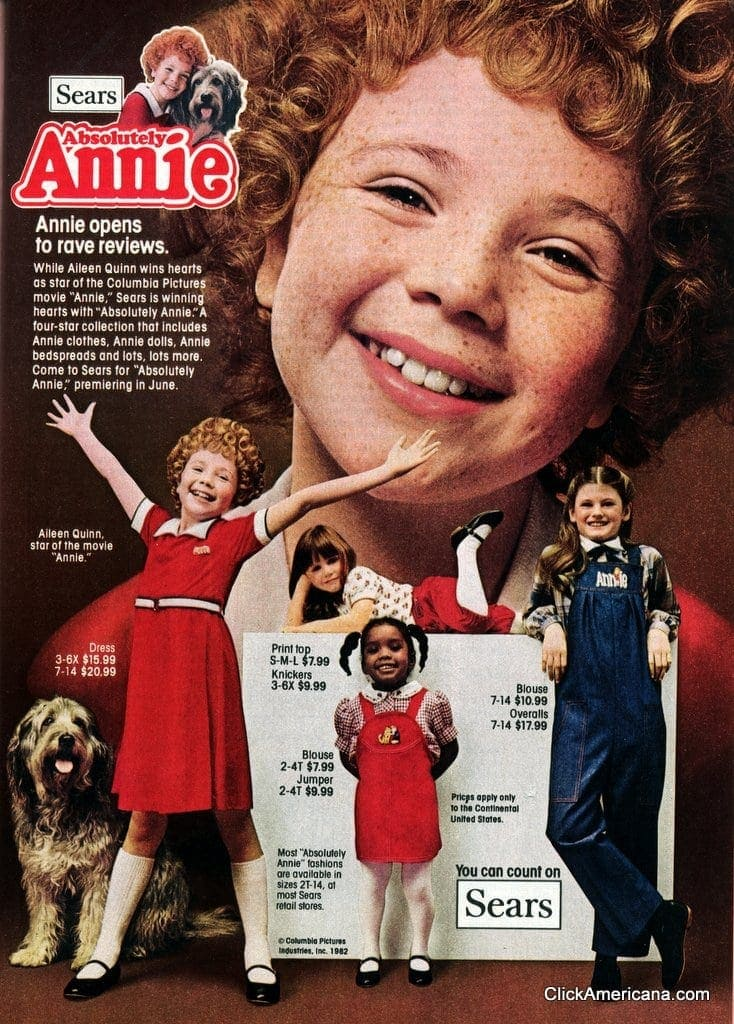 Absolutely Annie Movie Inspired Fun At Sears 1982
