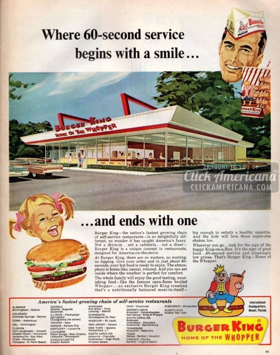 Fast Food Restaurants 1970s
