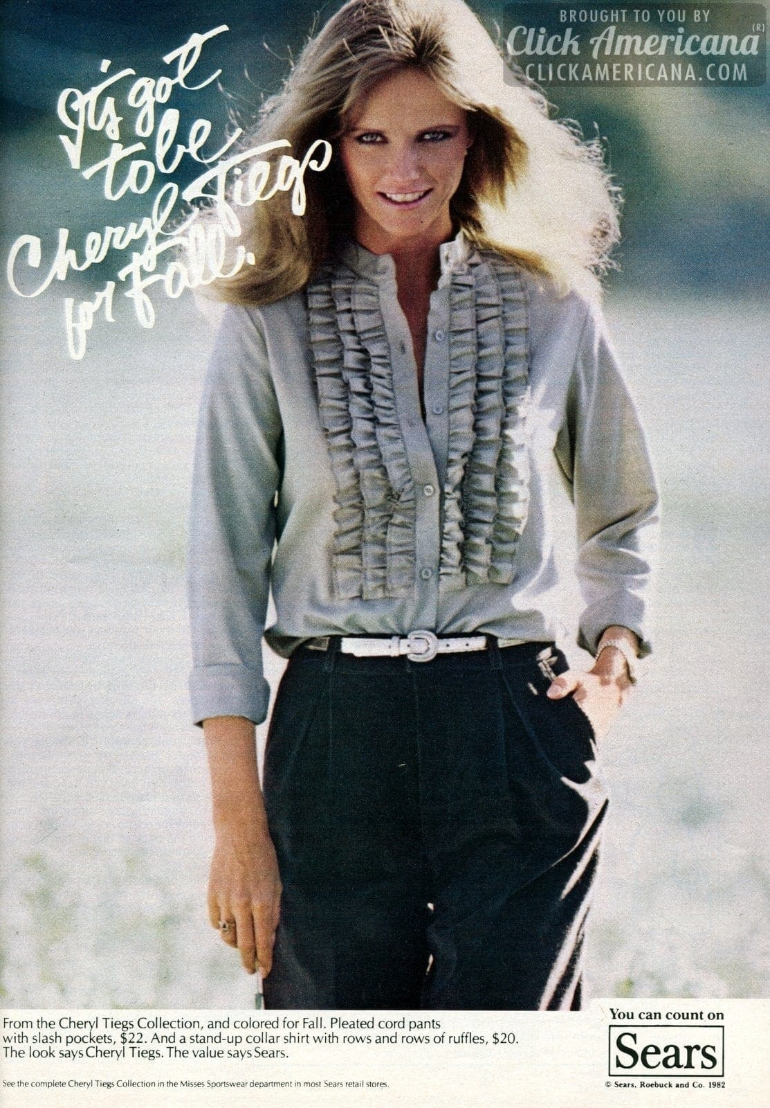 Cheryl Tiegs Clothing Collection For Sears 1982 Click