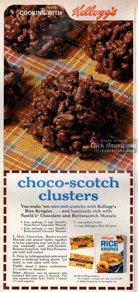 Choco Scotch Clusters Recipe 1967 Click Americana