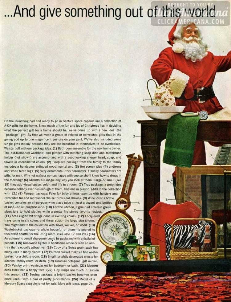 For a merry vintage Christmas: Creative gifts for the mid-century home, from 1964