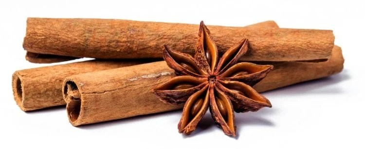cinnamon sticks and star anise for extract