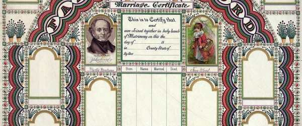 colorful genealogical chart for recording marriages