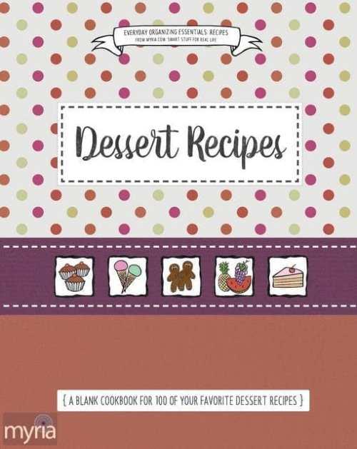 Myria's blank cookbook series