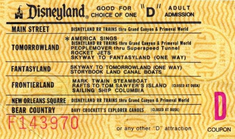 Disneyland tickets:D adult admission (gold)