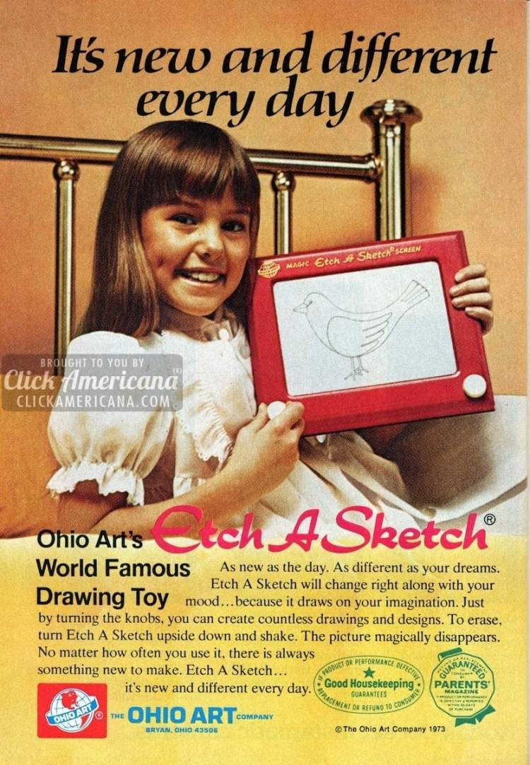 Etch-a-Sketch & Ohio Art toys give happiness (1972-1973)