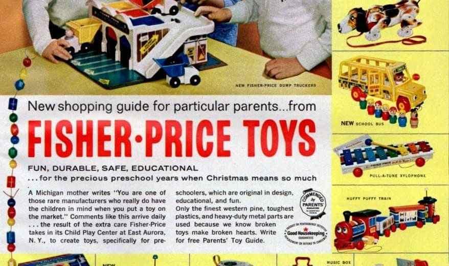 New Classic Fisher Price Preschool Toys 1965