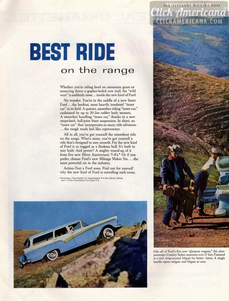 Best ride on the range: Ford's new glamour wagons (1957)