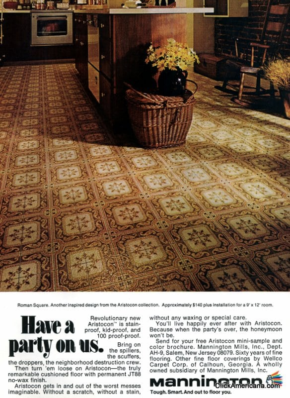 A Variety Of Vinyl Kitchen Floors From The 1970s Click Americana