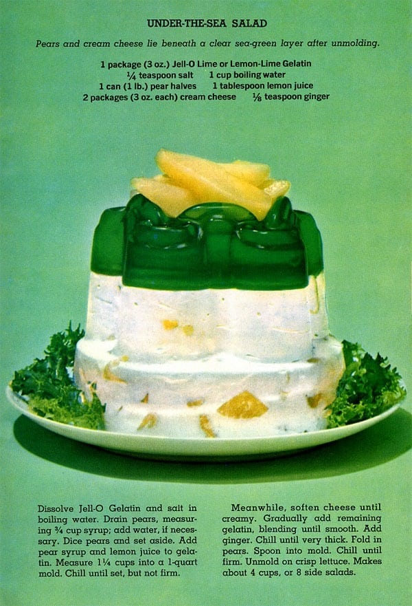 Under The Sea Jell O Salad Recipe 1963 Click Americana