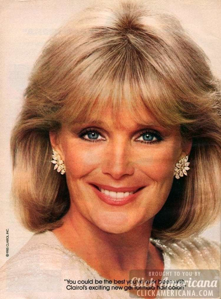 Actress Linda Evans For Ultress Hair Color 1985 Amp 1986