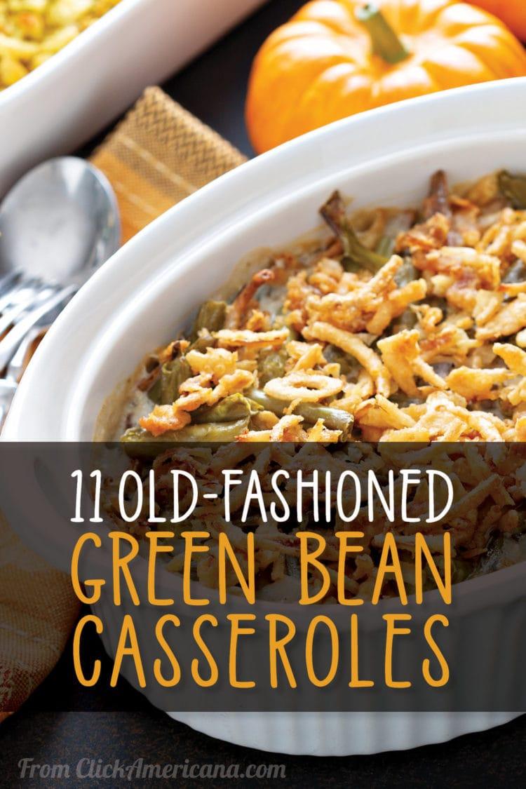 old-fashioned green bean casserole recipes
