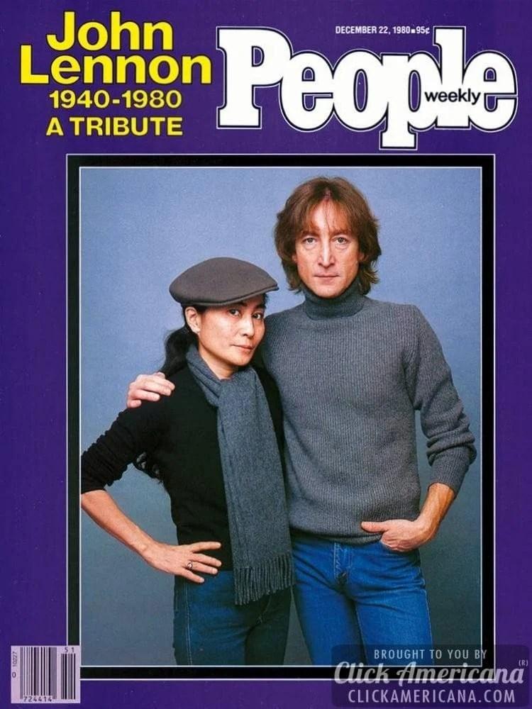 People magazine cover - 1980 - John Lennon tribute