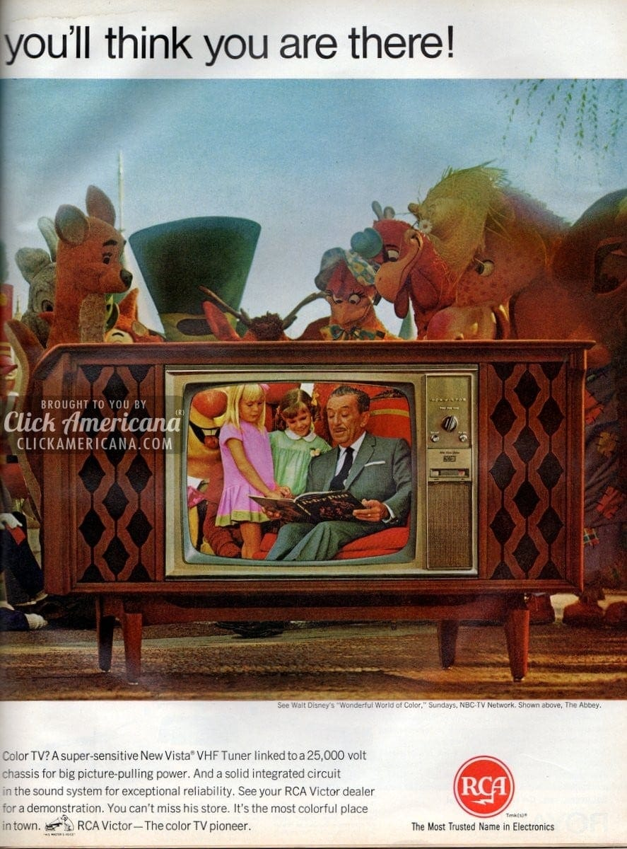See Rca Victor U0026 39 S New Big Screen Color Tv  1966