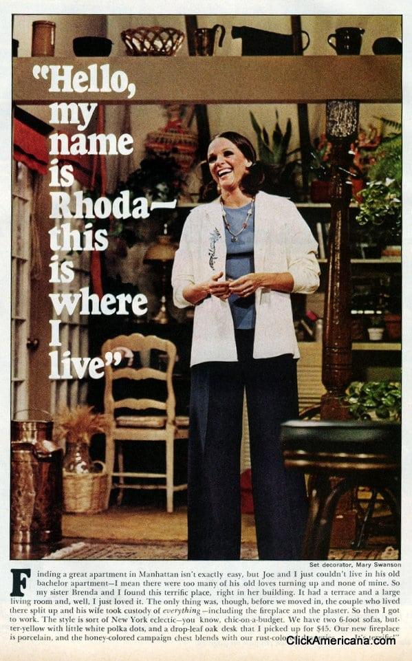 Inside Rhoda S Place 1975 Click Americana