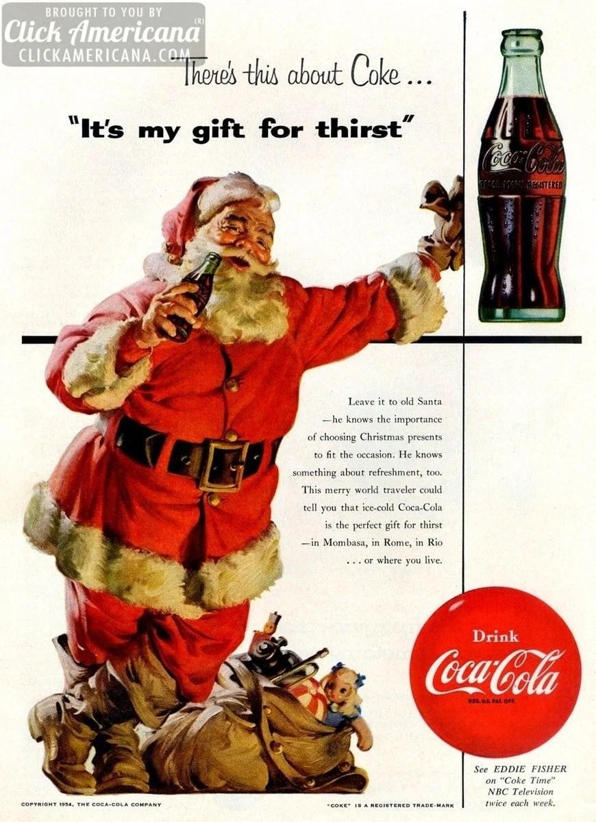 Vintage Coca Cola Christmas Ads Starring Santa 1931 1963