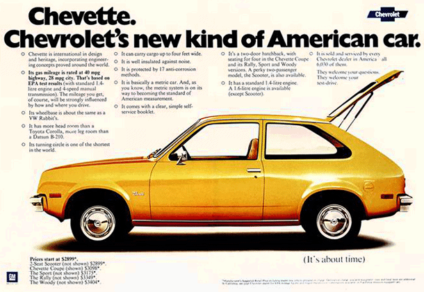 Hershey Car Show >> Chevrolet Chevette: A new kind of American car (1975) - Click Americana