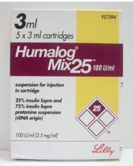 Humalog Mix 25 100IU Cartridges