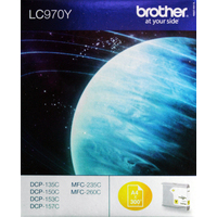 Brother LC970Y Ink Cartridges Yellow LC-970Y-0