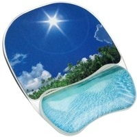 Fellowes Photo Gel Mouse Pad Wrist Support Beach 9202601-0