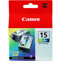 Canon BCI-15C Ink Cartridge Colour Pk2 BCI15C 8191A002AA-0