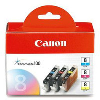 Canon CLI-8 Ink Cartridge Tri-Colour Multi-Pack CMY CL8 0621B026-0