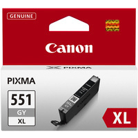 Canon Pixma CLI-551XLGY Ink Cartridge High Yield Grey 6447B001-0