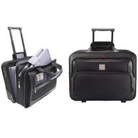 Monolith Deluxe Nylon Wheeled Laptop Case Black 2372-0