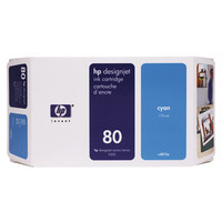 HP C4846A Ink Cartridge Cyan HPC4846A 80 350ml-0
