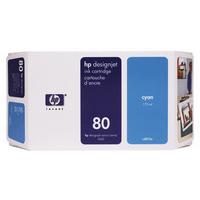 HP C4846A Ink Cartridge Cyan HPC4846A 80 350ml-0