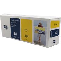 HP C4933A Ink Cartridge Yellow Dye Ink HPC4933A 81-0