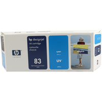 HP C4941A Ink Cartridge Cyan UV HPC4941A 83-0